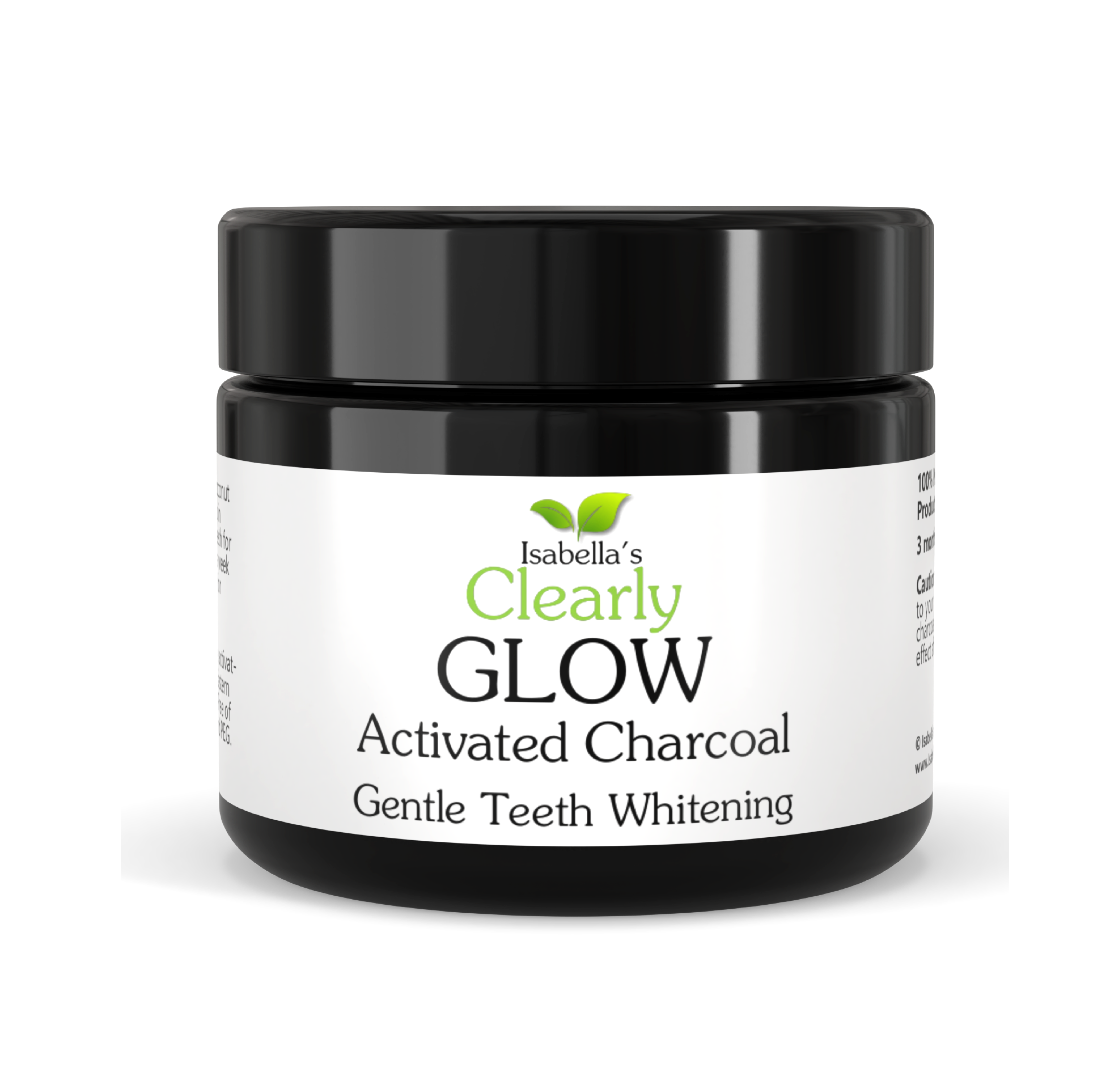 Clearly GLOW, Teeth Whitening Activated Charcoal Powder