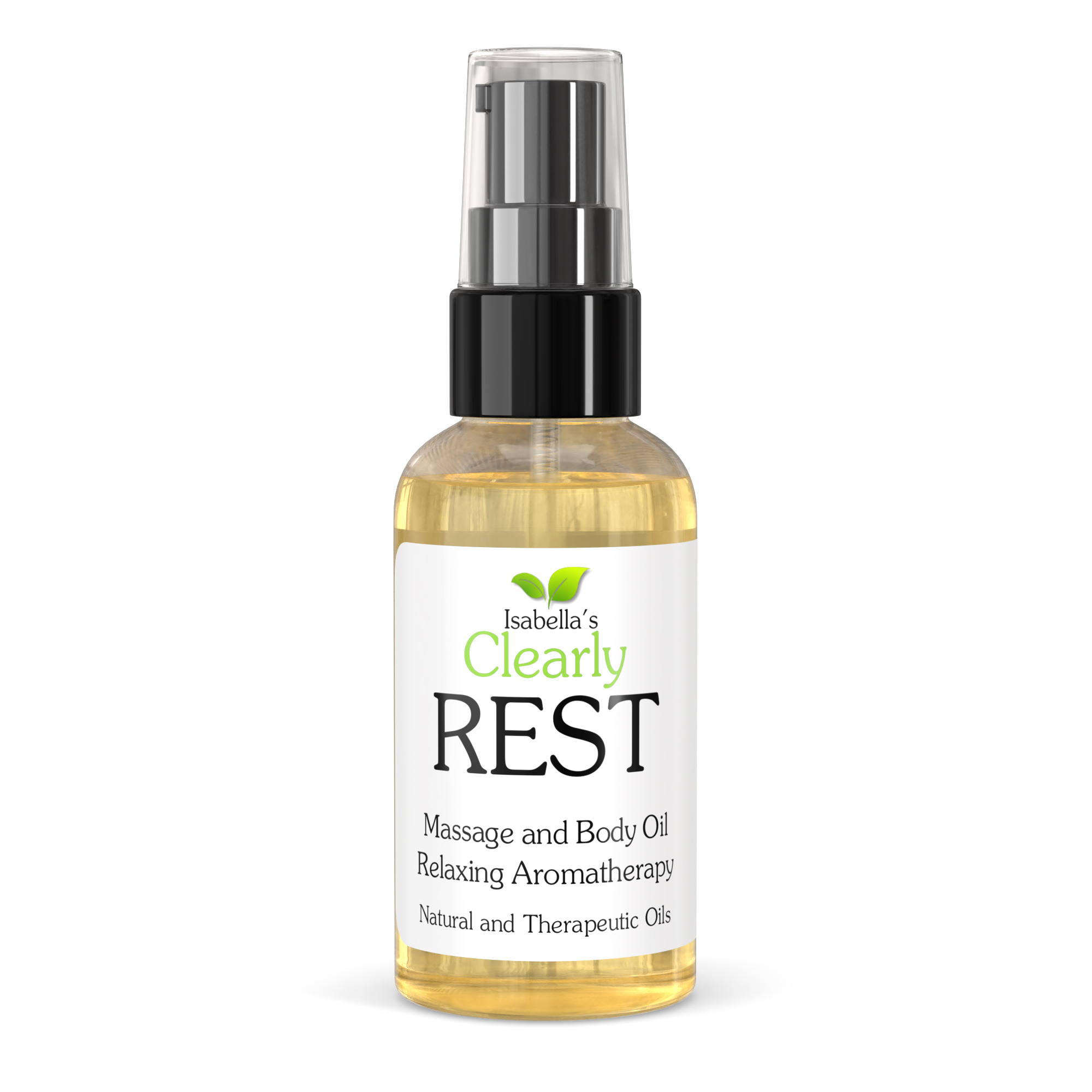 Clearly REST, Aromatherapy Massage and Body Oil for Stress Relief