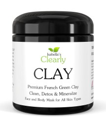 Clearly CLAY, Premium French Green Clay Face and Body Mask with Brush