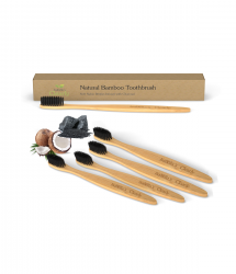 Clearly BAMBOO Soft Toothbrush, Charcoal Infused