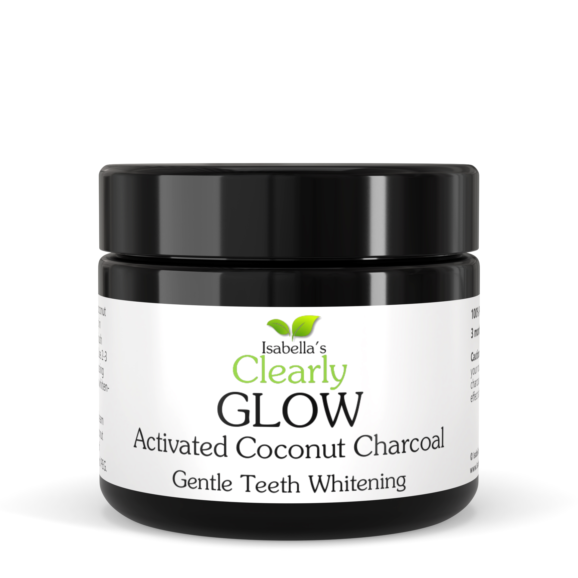 Clearly GLOW Coconut, Teeth Whitening Activated Charcoal